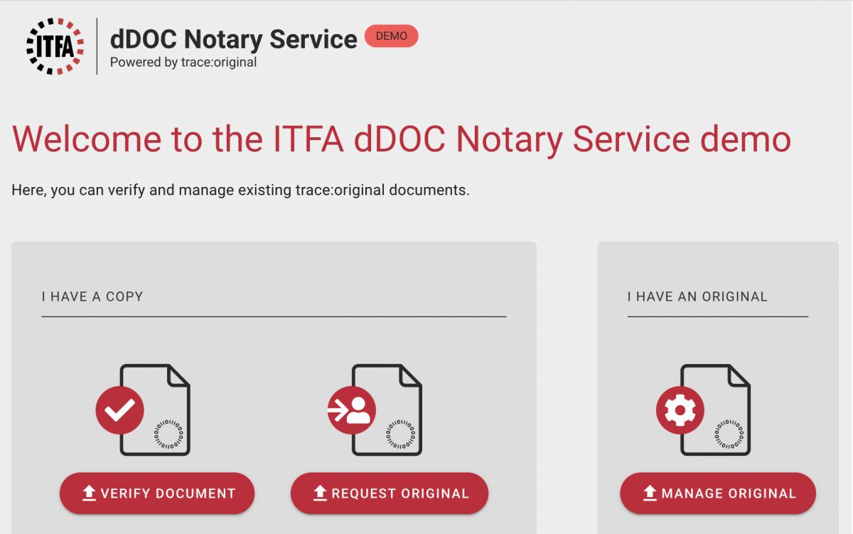 ITFA dDOC Manager demo